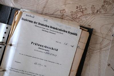 Alte Akte aus der DDR