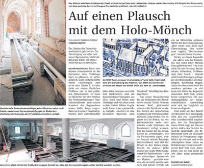 Auf einen Plausch mit dem Holo-Mönch - Artikelbild NK Neubrandenburger Zeitung