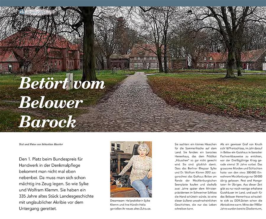 Betört vom Belower Barock - Beitragsbild NK Magazin zuhause