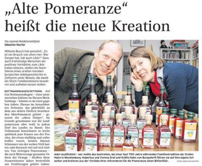 """Bild vom Artikel """"Alte Pomeranze"""" heißt die neue Kreation"""