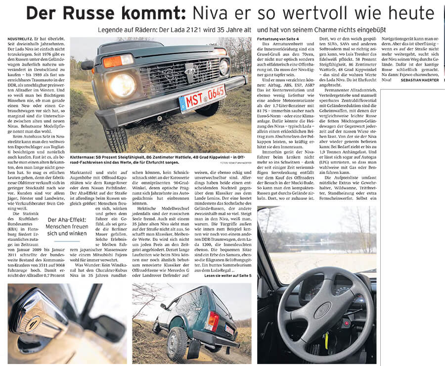 Der Russe kommt: Niva er so wertvoll wie heute - Artikelbild NK Neubrandenburger Zeitung