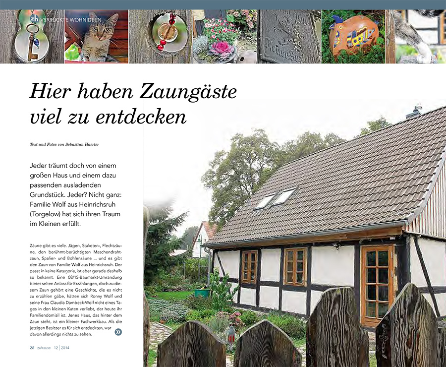 Hier haben Zaungäste viel zu entdecken -- Beitragsbild NK Magazin zuhause