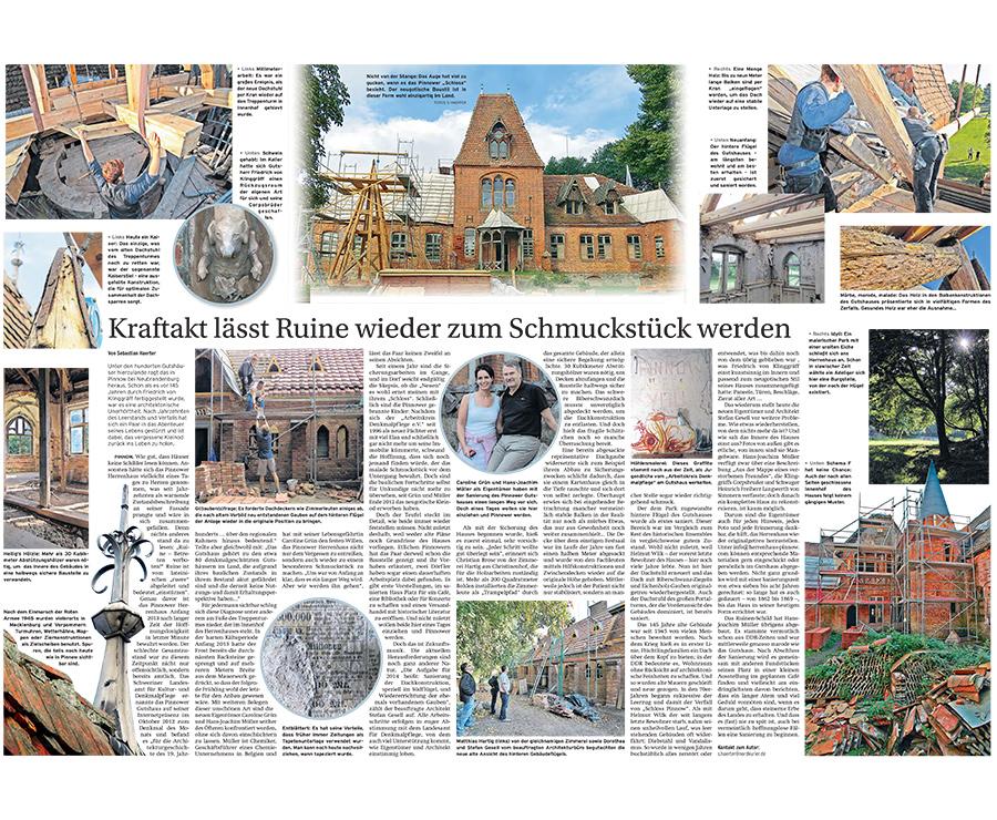 Kraftakt lässt Ruine wieder zum Schmuckstück werden - Artikelbild NK Neubrandenburger Zeitung